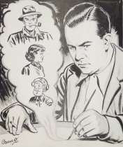 Image of [Milton Caniff at drawing board] - Burnley, Jack, 1911-